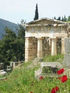 Delphi, Greece--I took a photo just like this when we were here--and yes, I'll never stop talking about it, so shove it.