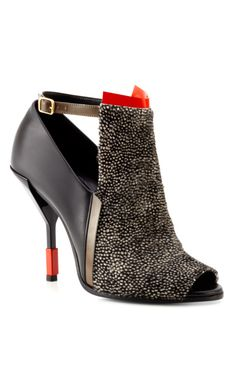 Pierre Hardy Multico Red Peep Toe Bootie