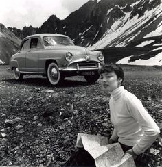 Robert Doisneau - Publicity // Publicité pour la Simca Aronde, col de l'Izoard 1953