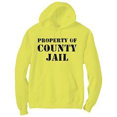 Property Of County Jail Bright Neon Yellow Adult Pullover Hoodie - Small ZeroGravitee http://www.amazon.com/dp/B01BYSHIYW/ref=cm_sw_r_pi_dp_VJCZwb0BYZRSC