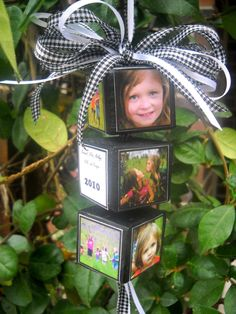How to make Photo Memory Block Ornament