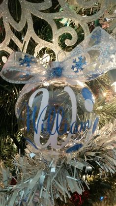 Christmas is the season for giving...so give something personalized to all the special people in your life. So easy and inexpensive. A box of Christmas ornaments, some ribbon and a set of our monogram ornament decals and you can create a beautiful gift that can be enjoyed year after year. Perfect for family, friends, co-workers, teachers and secret Santa gifts.Decal sets include a set of TWO initials, TWO names and dots. Enough to decorate 2 ornaments. Initials measure 2 1/4 inches each at…