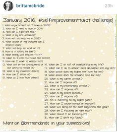 Self improvement tarot challenge by @brittamcbride January 2016
