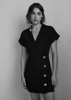 MANGO Short buttoned dress - Women