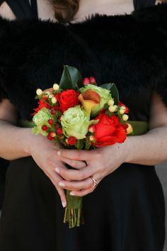 Copyright: Jennifer Bearden Photography Jennifer Bearden Photography www.jenniferbearden.com #weddings #charleston #chs #photography #bridesmaids #bouquet #flowers #black #orange #lime #green