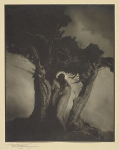 The Heart of the Storm; Anne W. Brigman (American, 1869 - 1950); negative 1902; print 1914; Gelatin silver print; 24.6 x 19.7 cm (9 11/16 x 7 3/4 in.); 94.XM.111; Gift of the Michael and Jane Wilson Collection; Copyright: Status undetermined