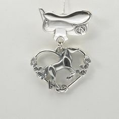 Sterling Silver Horse Brooch  Silver Horse by DonnaPizarroDesigns
