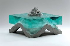 Artist Ben Young is at it again! Glass and concrete.