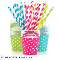 Paper cups and striped straws Tricks, Planter Pots, Blog, Mini, Paper Cups, Straws, Tumblers, Water, See Through