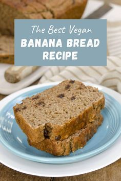 This VEGAN BANANA BREAD has been a long-time favorite with readers! Over 15 years this recipe has been a hit, and it is EASY to make. Not only whole-grain, dairy-free, egg-free, and oil-free, it is sweetened ONLY with the bananas and pure maple syrup. You will return to this whole foods plant-based recipe again & again! #vegan #bananabread Best Vegan Banana Bread Recipe, Healthy Banana Bread, Best Banana Bread, Vegan Bread, Banana Bread Recipes, Muffin Recipes, Vegan Baking Recipes, Vegan Dessert Recipes, Vegan Breakfast Recipes