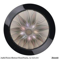 Joyful Flower Abstract Floral Fractal Art USB Charging Station