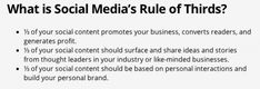 Content curation rule for social media content sharing - Rule of Thirds