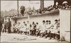 7. The Pittsburgh Pirates in the dugout at the Huntington Avenue Grounds, 1903 World Series