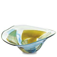 Vanilla Sky Large Moon Bowl. Purchase direct with international shipping: https://www.mdinaglass.com.mt/eshop-online/vases-bowls/vanilla-sky/van-266.html