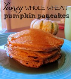 Honey Whole Wheat Pumpkin Pancakes