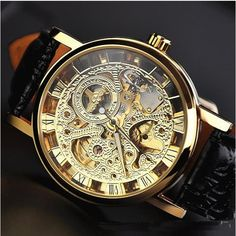 Stan vintage watches — Men's Mechanical Watch Steam Punk Gold Plated vintage watches (WAT0043-gold)
