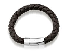 Mens Bolo Leather bracelet with Stainless Steel by versionbracelet, $35.00 Fitbit Alta, Stainless Steel, Belt, Trending Outfits, Unique Jewelry, Bracelets, Handmade Gifts, Leather, Accessories