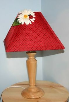"""ladybug lamp shade for my new """"lady bug theme"""" guest and dollhouse showcase room. I think this is totally do-able! Kids Bedroom, Kids Rooms, Bedroom Ideas, Ladybug Room, Classroom Themes, Future Classroom, Bug Crafts, Little Girl Rooms, Diy School"""
