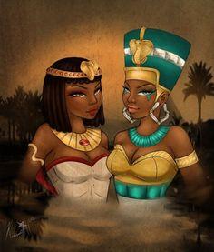 Queen Cleopatra and Queen Nefertiti