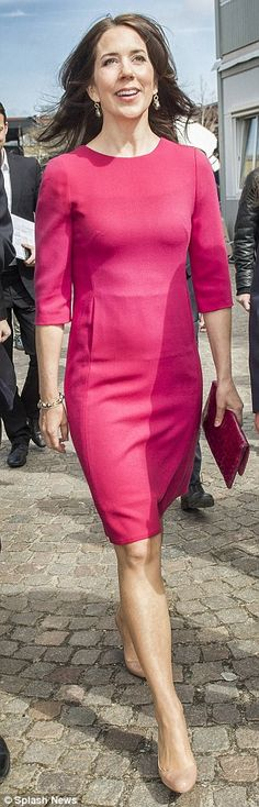 Crown Princess Mary of Denmark attends the official opening of the Festival of Research and presented the Research Communication Award 2015 at the Technical University of Denmark on April 23, 2015 in Lyngby, Denmark.