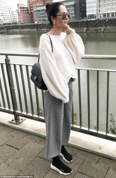 Balenciaga Speed Knit Sneakers Street style Street Fashion Outfit Cozy outfit Trendy shoes