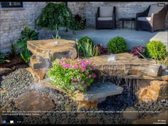 Waterscape for courtyard 2013 Ironwood Homes