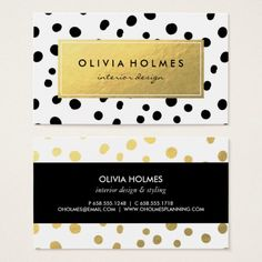 Shop Black & Gold Faux Foil Dot Pattern Business Card created by JAmberDesign. Create Business Cards, Business Card Design, Dots Design, Graphic Design, Name Card Design, Typography, Lettering, Name Cards, Paper Goods