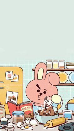 List of Great Bts Anime Wallpaper IPhone K Wallpaper, Kawaii Wallpaper, Aesthetic Iphone Wallpaper, Cartoon Wallpaper, Bts Backgrounds, Line Friends, Bts Drawings, Fan Art, Bts Chibi
