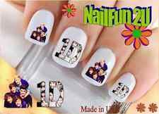 "Nail Art WaterSlide Decals Ready to Go Set#582 ""1D 2 Faces One Direction"" Transf"