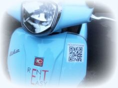 Qr code su ogni Scooter | Rent it Easy