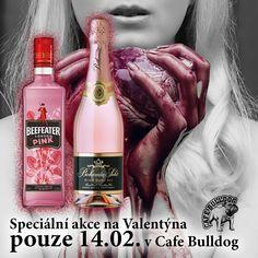Cafe Bulldog - Valentýnský týden s růžovými Giny Pure Leaf Tea, Guinness, Whisky, Gin, Pure Products, Drinks, Bottle, Drinking, Beverages