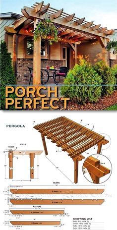 The pergola kits are the easiest and quickest way to build a garden pergola. There are lots of do it yourself pergola kits available to you so that anyone could easily put them together to construct a new structure at their backyard. Diy Pergola, Patio Diy, Small Pergola, Pergola Attached To House, Pergola Swing, Metal Pergola, Deck With Pergola, Outdoor Pergola, Cheap Pergola