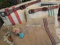 프랑스자수 ~ 햄프린넨 가방 : 네이버 블로그 Linen Bag, Cloth Bags, Burlap, Reusable Tote Bags, Blog, Sewing, Bags, Canvas Bags, Dressmaking
