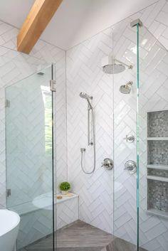 Diy Bathroom Remodel, Shower Remodel, Bathroom Renovations, Master Bathroom Shower, Small Bathroom, Bathroom Ideas, Downstairs Bathroom, Dream Bathrooms, Bathroom Vanities