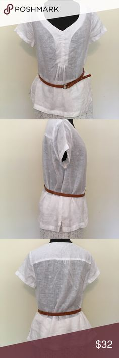 Pure linen tunic Like new ultra lightweight linen.  Stay cool in this linen top that can range in casual to formal outfits Talbots Tops Tunics