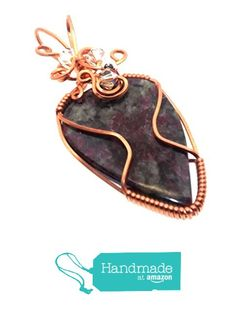 Eudialyte Gemstone Copper Wire Wrapped Pendant from Angelleesa Designs https://www.amazon.co.uk/dp/B01LZ07O54/ref=hnd_sw_r_pi_dp_etM7xbH6G4MZS #handmadeatamazon