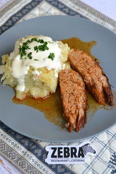 Muschiulet de porc aromatizat cu cartofi gratinati