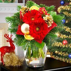 Blumenstrauß Weihnachtsüberraschung - Beschenken Sie Ihre Liebsten mit diesem gelungenen niedlichen Weihnachtsstrauß