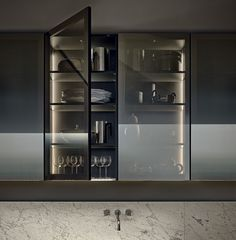 Modular Kitchens: Kitchen Minimal [a] by Varenna Poliform