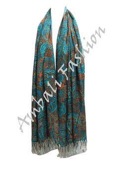 Ladies Pashmina Scarves Scarf Wrap Flower Shawls Multi colour Paisley Cashmere
