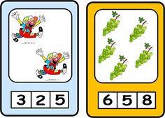 Maestra de Infantil: Juego para contar. Fichas para imprimir.