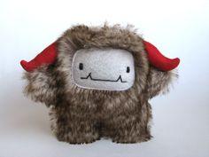 Cute monster Plush Wooky  MADE TO ORDER by curiouslittlebird, $44.00