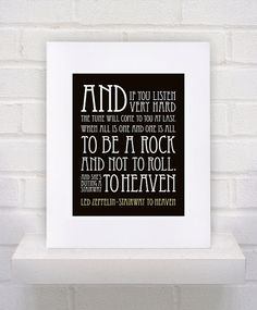 CUSTOM REQUEST -  Led Zeppelin Lyrics  Stairway to Heaven  by KeepItFancy, $25.00