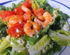 Kochen kann so leicht sein: Salat mit Garnelen und einem Sherry-Apfel-Dressing
