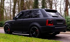 Ultimate dream car.. Range Rover Sport. Matte black, black rims, black on black on black