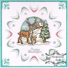 Geborduurde kerstkaart, patroon van stitch & do