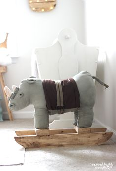 Rocking Horse Rhino- what? Looks adorable, and it's a DIY!!!!