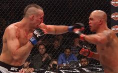 #mma fighter Robbie Lawler. Not the cleanest punch, but effective one.