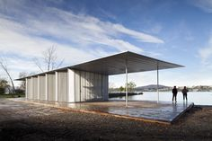 office pavilion. hudson river center and kayak pavilion by architecture research office