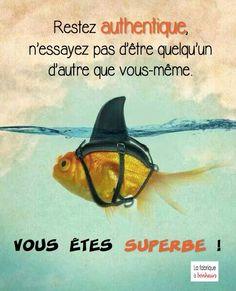 j'adoooooore !!! le poisson qui voulait se faire aussi méchant qu'un requin ! soyez vous mêmes !!!